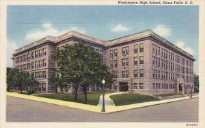 South Dakota Sioux Falls Washington High School Curteich