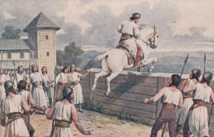 Man jumps wall on horse , 00-10s