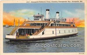 Annapolis Claiborne Ferry Annapolis, MD USA Ship Postcard Post Card Annapolis...