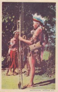 Aboriginal Aborigine Indians Old Postcard