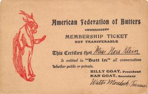 Cold Springs IN~Nora Kleine Butter Member~Buttinsky Moredock Butts In~Billy Goat