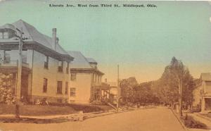 E58/ Middleport Meigs County Ohio Postcard c1910 Lincoln Ave 3rd Homes 5