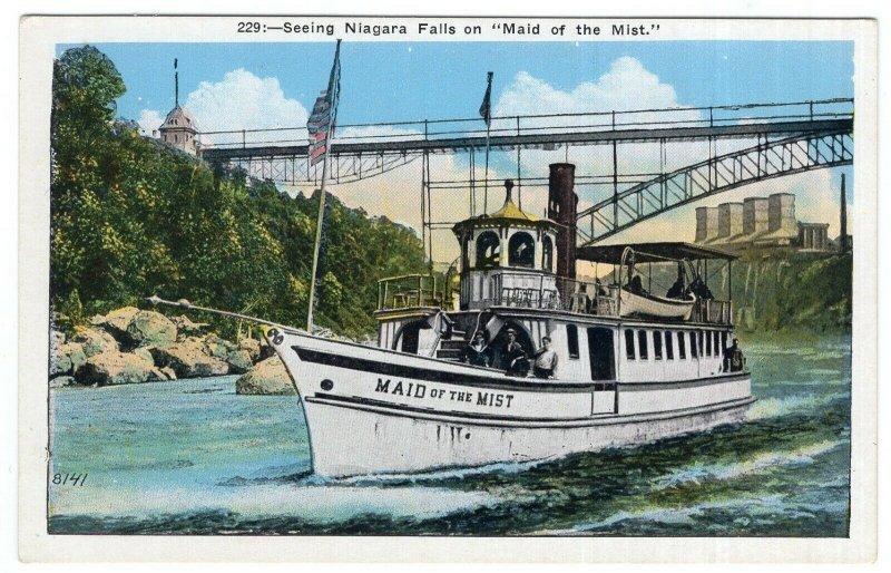 Seeing Niagara Falls on Maid of the Mist.