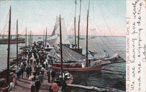 New Jersey Atlantic City Yachting Pier At The Inlet 1907