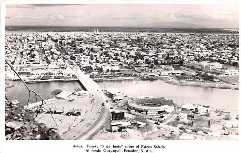 Guayaquil Ecuador, Republica del Ecuador Puente 5 de Junio Sobre el Estero Sa...