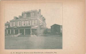 LEESPORT , Pennsylvania , 1901-07 ; A.F.Mogel's Store & Residence