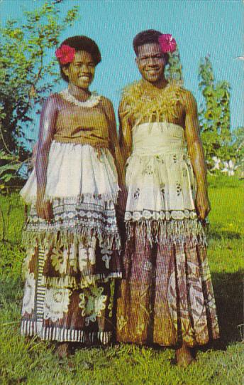 Fiji Natives In Traditional Costume