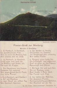 Hambacher Schloss, Pionier-Strass Zur Maxburg, (Rhineland-Palatinate), German...