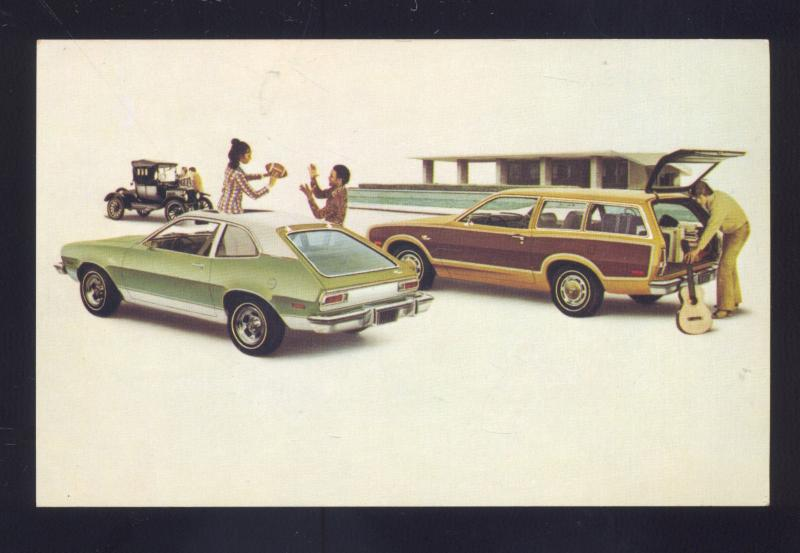 1974 FORD PINTO SQUIRE STATION WAGON VINTAGE CAR DEALER ADVERTISING POSTCARD