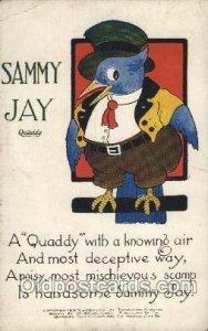 Artist Signed Harrison Cady Quaddy Sammy Jay Unused crease left top corner ...