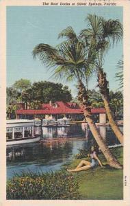 Florida Silver Springs The Boat Docks At Silver Springs 1940