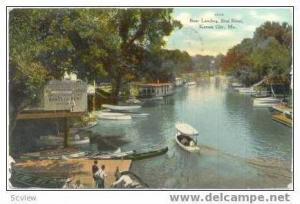 Boat Landing, Blue River, Kansas City, Missouri, 1909