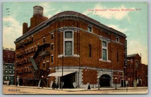 Brooklyn New York~New Montauk Stage Theatre~Livingston Street~Razed 1925~1912 PC