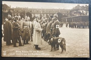 Mint Germany RPPC Real Picture Postcard King Ludwig III With Troops