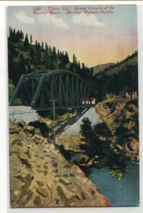 Western Pacific Railroad Bridge Feather River Canyon Tobin California postcard