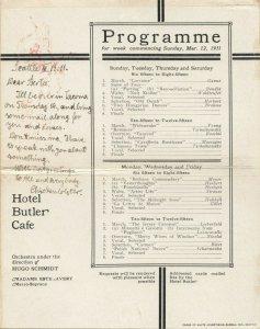 SEATTLE , Washington , 1911 ; Hotel Butler , Bi-Fold