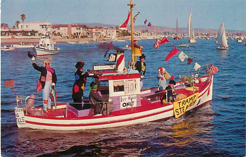 Tramp Steamer Character Boat Parade, Newport Harbor California CA
