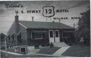 RPPC of Noland's U.S. Highway 12 Motel, Willmar, Minnesota ,MN, Kodak Paper
