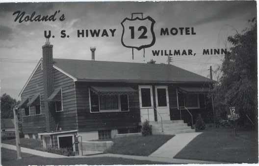 RPPC of Noland's U.S. Highway 12 Motel, Willmar, Minnesota ,MN, Kodak Paper