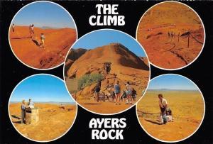 Australia The Climb Ayers Rock Tourists Promenade