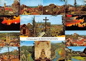 Gruss aus Goessweinstein multiviews Kirche Church Cross Sunset River Panorama