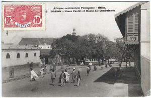 Dakar Africa Village Street View Ambulance Used Senegal Stamp Vintage Postcard
