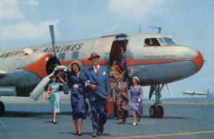 AH196 American Airlines Convair Flagship Boston Airplane USA Postcard