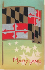 MARYLAND , State Flag , 40-50s ; Serigraph