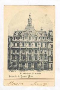 Recuerdo de Buenos Aires, Argentina, PU-1902  El edificio de La Prensa
