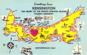 Greetings from Kensington The Heart of Prince Edward Island Map Unused
