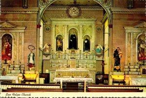 New Mexico Albuquerque Old Town San Felipe De Neri Church Altar