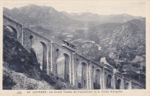 France Lourdes Le Grand Viaduc du Funiculaire et la Vallee d'Argeles