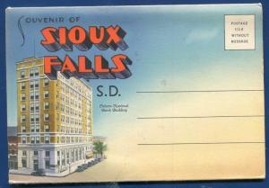 Sioux Falls South Dakota sd 1940s #1 old postcard folder