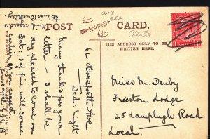 Genealogy Postcard - Ancestor History - Denby - Frieston Lodge  A3500