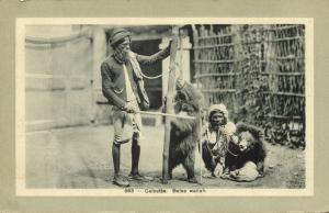 india, CALCUTTA, Baloo Wallah, Native Juggler Juggling, Bear Tamer (1920s)