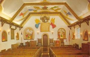 Lawton Oklahoma~Holy City Chapel~Interior~1950s Irene Malcom Postcard