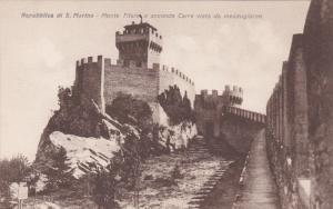 SAN MARINO , 00-10s ; Monte Titano e seconda Torre vista da mezzogiorno