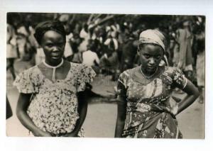 247245 CONGO BELGE type Woman Indigene Vintage photo postcard