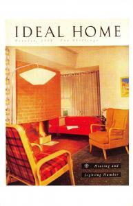 Nostalgia Postcard Ideal Home Magazine Cover 1951 Reproduction Card NS41