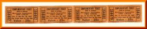Four 54th & College 1957 Circus Tickets, Indianapolis, Indiana/IN (?)
