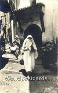 Alger Algeria, Africa, Une rue de la Casbah  Real Photo Une rue de la Casbah