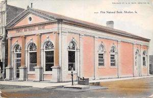 Moulton Iowa~First National Bank c1910 Postcard