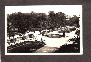 France Bordeaux Terrasse du Jardin Garden Public RPPC Real Photo Carte Postale