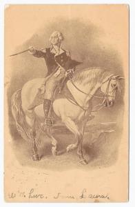 George Washington Horseback Patriotic Vintage Embossed UDB ca 1910 Postcard