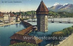 Luzern Swizerland, Schweiz, Svizzera, Suisse Kappelbrucke  Kappelbrucke