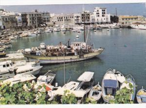 Harbor, Sail Boats, House Boats, Fishing Boat, KYRENIA, Cyprus, 50-70´s