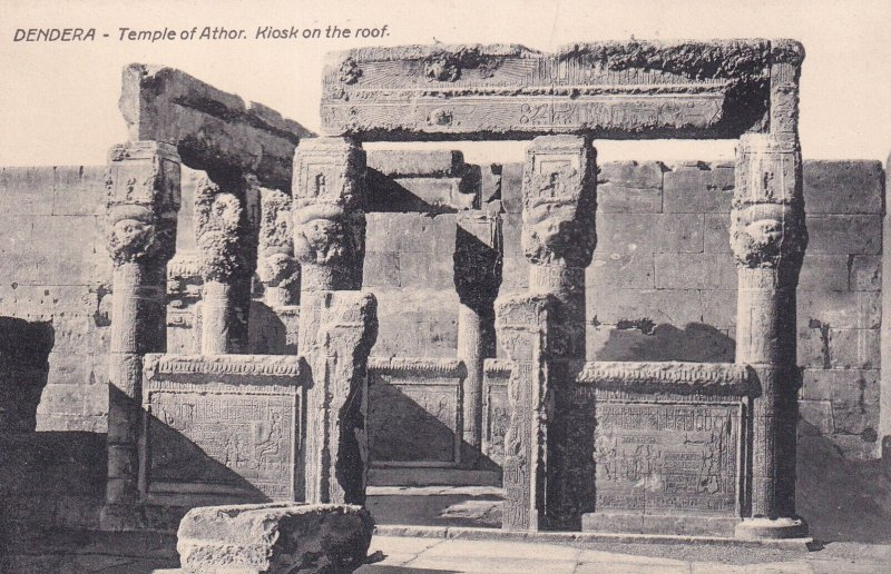 DENDERA, Egypt, 1900-1910s; Temple Of Athor, Kiosk On The Roof