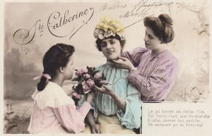 RP; Ste. Catherine admired by lady and girl, Poem, 00-10s