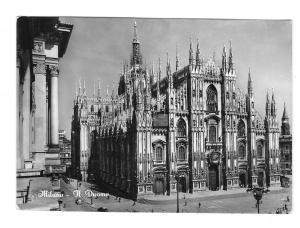 Italy Milano Il Duomo Cathedral Milan Glossy 4X6 BW Vera Foto Photo Postcard