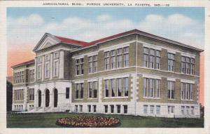 Exterior, Agricultural Bldg., Purdue University, Lafayette, Indiana, 30-40s
